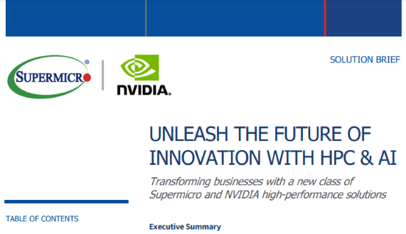 Solution Brief Unleash The Future of Innovation with HPC & AI resize