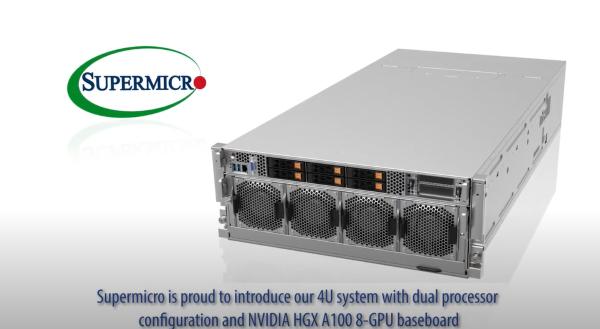 Supermicro SuperMinute 4U System with HGX A100 8-GPU resize